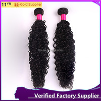 Malaysia Virgin Jerry Curly Weave Extensions Human Hair 100% Unprocessed Remy Jerry Curly Hair Weft