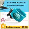 New kids gsm gps tracker watch mini gsm gprs tracker with geofence alarm and long battery life