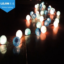 christmas battery operated led string lights cotton ball