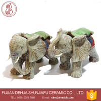 Office/ Study Room Desktop Decor Craft Elephant Figurine Ceramic