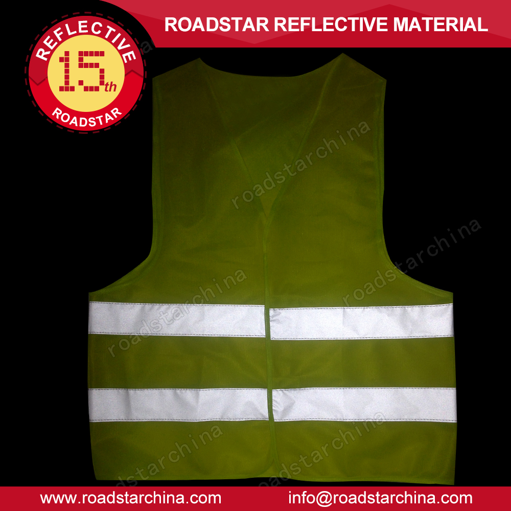95gsm light reflective cheap fluorescent yellow safety vest for sale