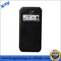 Top quality Black open flip leather case