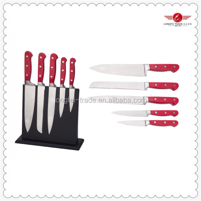 Professional 5 pcs kitchen knife brands with beautiful package wholesale