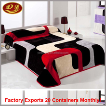 yiwu factory china 100% polyester super soft throw printed coral flannel baby fleece blanket