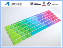 colorful keyboard skin silicone keyboard cover for macbook pro