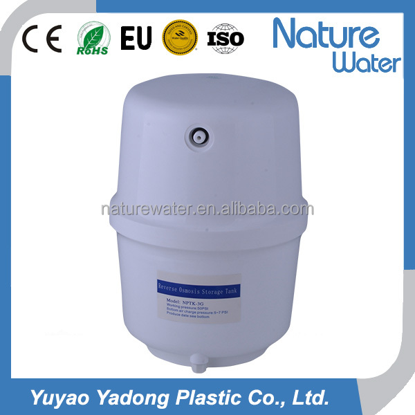 Reinforced water pressure tank 3.0G plastic for RO