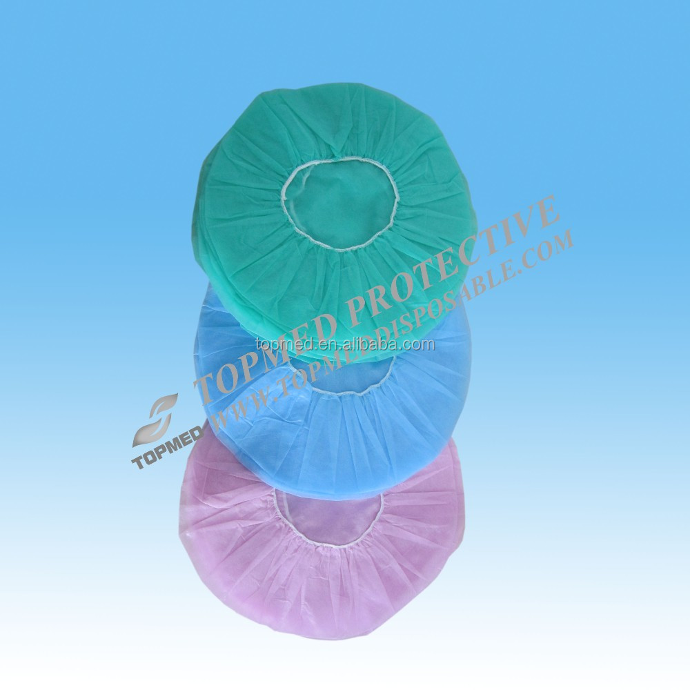 "Topmed decorative hair nets,medical 21""SBPP nonwoven bouffant cap in hospital"