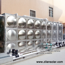 3000liters solar water heating project water tank for hotel and swimming pool