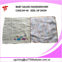 100% cotton gauze handkerchief for baby