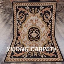YILONG 4'x6' cusomized blue hand knotted french chinese aubusson rugs
