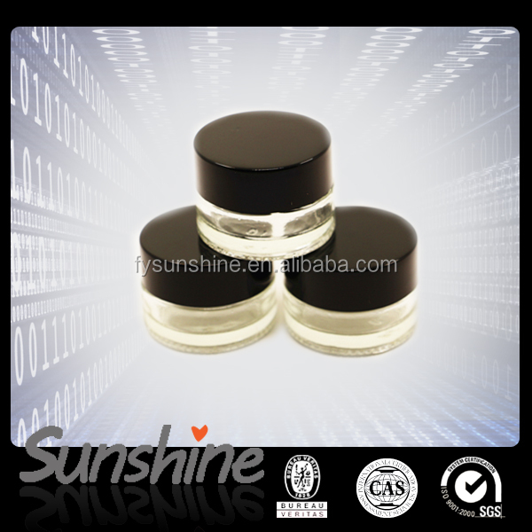 Custom glass container with plastic lid 5ml glass jars concentrate for wax/cosmetic storage