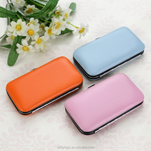 PU case 6 pcs good quality manicure kit for sale