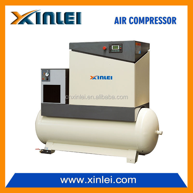 screw compressor 11KW 15HP XLAM15ATD-S5 with air dryer and 500L tank
