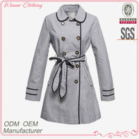 2015 fashion cotton sateen long sleves wit belt and buckle high quality and best price direct factory fancy blazer