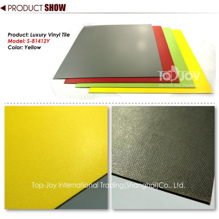 classic lemon yellow solid color vinyl flooring view