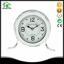 China vintage aa silver fashion old table clock