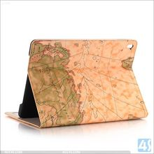 For iPad Pro 9.7 cases Map shockproof foldable kickstand wholesale PU Leather Cases cover for APPLE iPad Pro 9.7( Air 3)