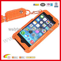 New arrival genuine leather case for iphone 5 5s ,croco case with lanyard for iphone