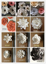 Wholesale Ivory Artificial Paper Flowers Wall Backdrop Wedding Decorations