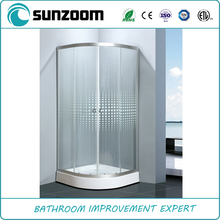 China supplier SUNZOOM hot sell curved glass shower enclosure