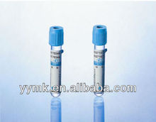 High quality blue blood collection glass/plastic tube