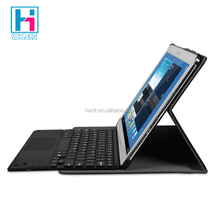 Ultra Slim Touchpad Keyboard Bluetooth Keyboard With Touchpad For Windows Tbalet PC With Leather Cover Case