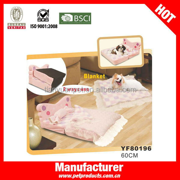 Foldable Pink Princess Indoor Dog House Bed