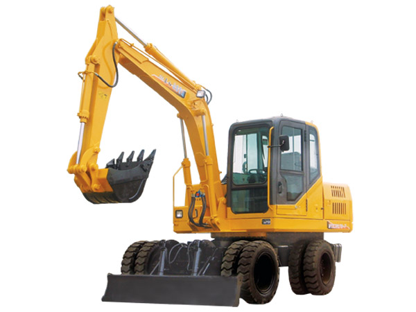 7Ton bucket capacity 0.35M3 mini wheel excavator