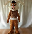 HOLA brown bunny mascot costume/carnival costume for adult
