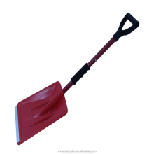 new design foldable and retractable aluminum car snow shovel hot selling