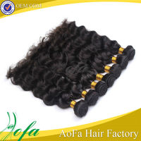 Popular full bottom body wave black clip in malaysian hair extensions