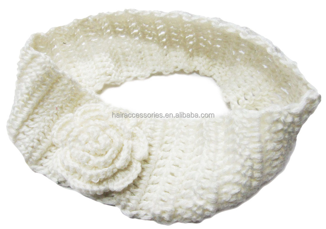Beautiful crochet headband with flower for the baby