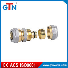 Factory price npt bsp brass threaded double ART014NH nipple pipe fitting
