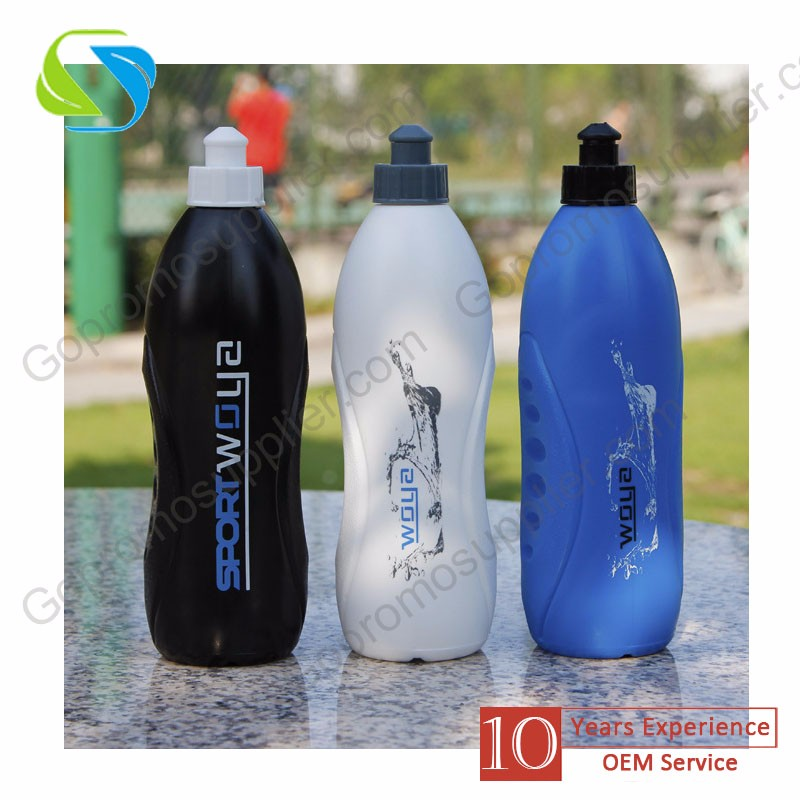 brand promotion advertising logo print custom plastic sport drink water stress ball bottle