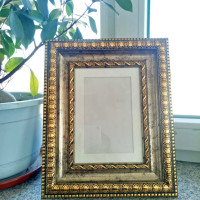 Personalised Elegent Golden Photo Frame with MDF Backboard