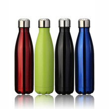 Powder coated double layer vacuum insulated stailess steel water bottle