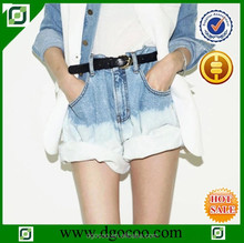 Ocoo Top design casual fashion loose fit tinting wash denim short jeans cuffed summer dip dye shorts women
