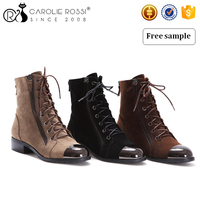 CR064 Lace up women winter santa foot warmer boot walk boots