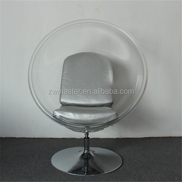 living room furniture leisure swivel standing clear bubble chair