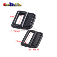 Plastic Black Rectangle Shoe Charms Accessories