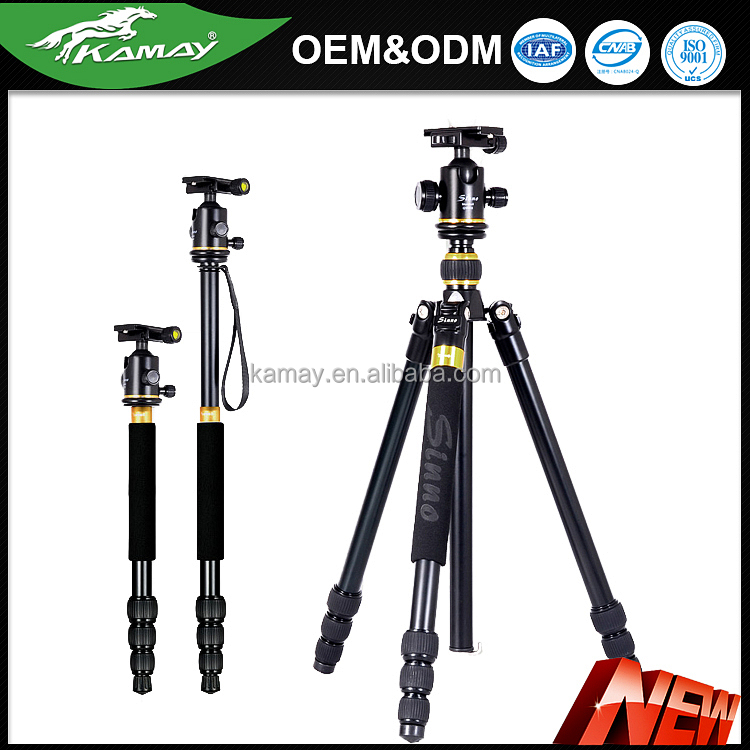 Multi-function motorized SLR camera light weight cabon fiber tripod stand