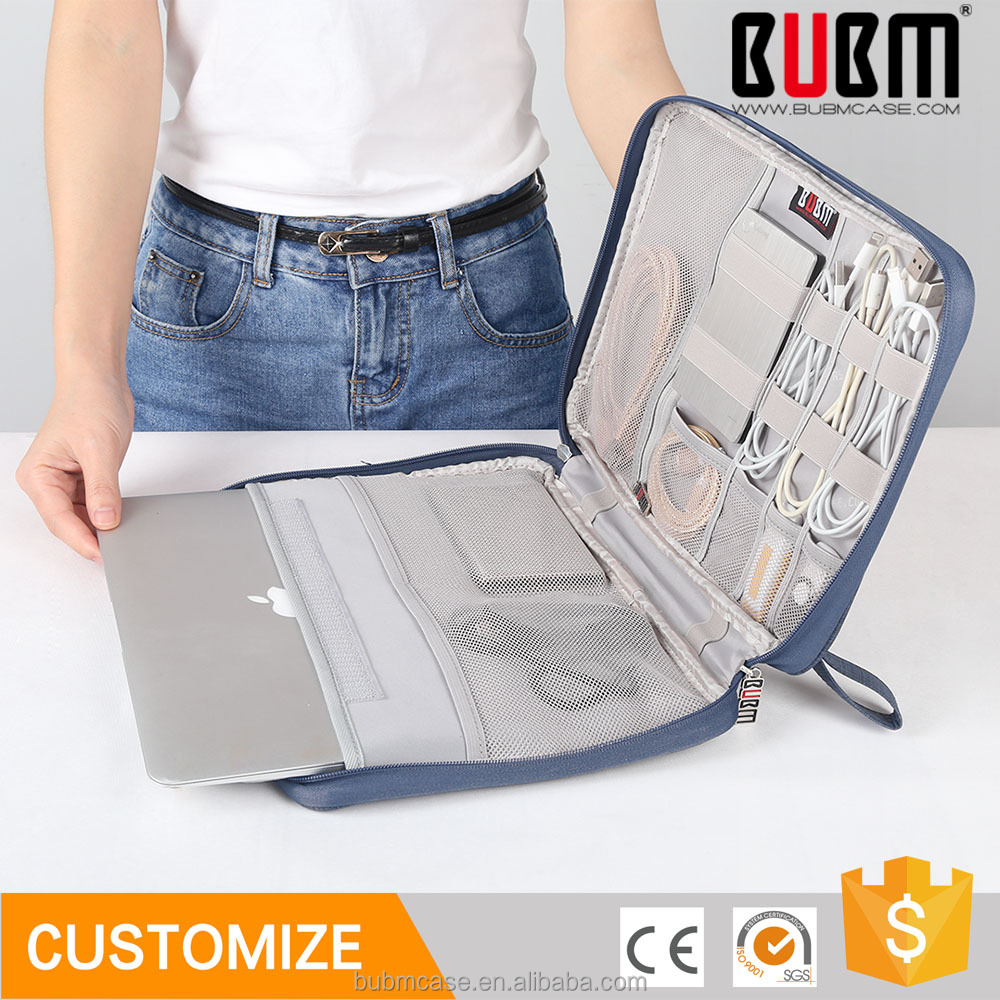 BUBM Functional Products With Zipper Protect Surface Pro Bag Custom Laptop Bag Outer Pocket for Mobile Phone for Travel