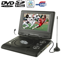 7.5 inch TFT LCD Screen Portable DVD Player with TV Player, Support SD / MMC Card / Game Function / USB Port