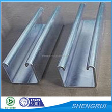 galvanized c channel steel profile manufacture