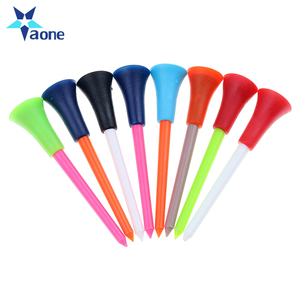 Wholesale bulk colored plastic golf tees rubber top golf tee