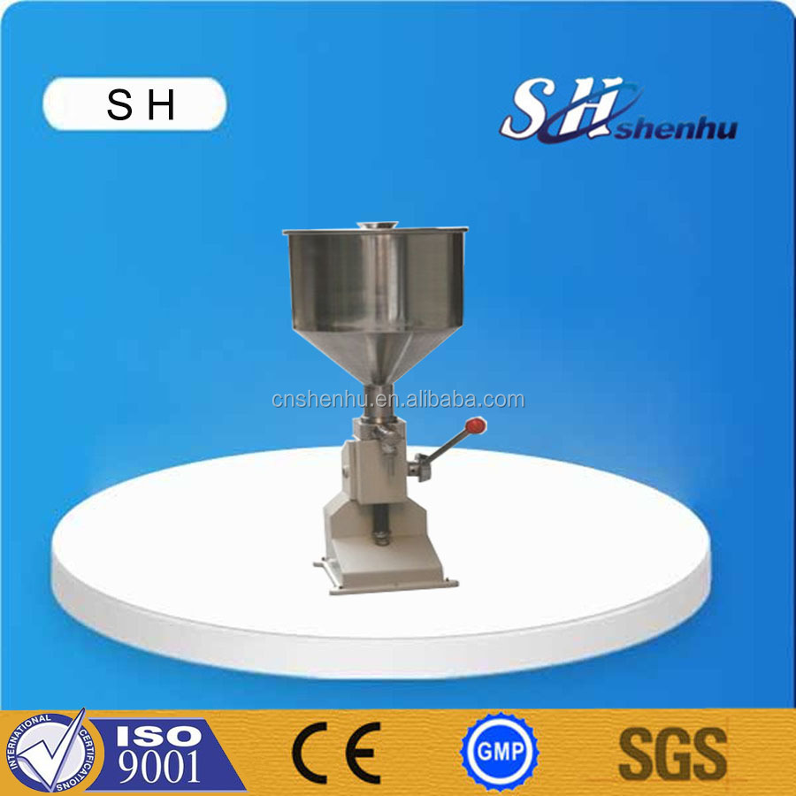 New products hand pressure stainless steel paste/cream/liquid small filling machine