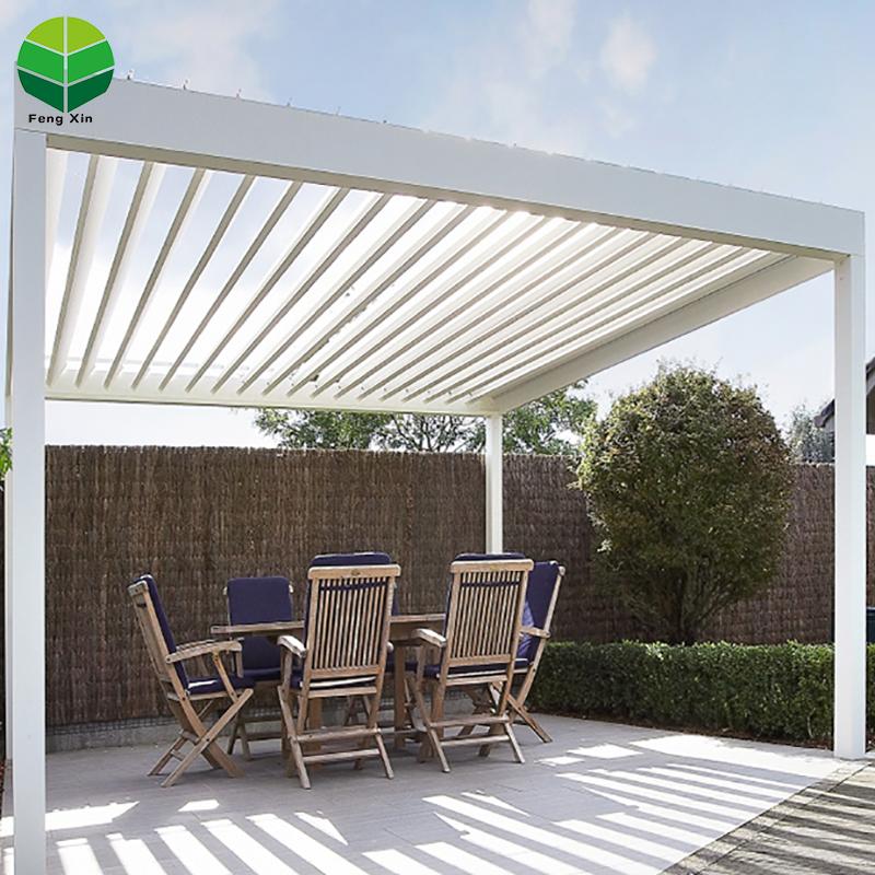 Home Automatic aluminum folding pergola roof louver with adjustable shade - Home Automatic Aluminum Folding Pergola Roof Louver With Adjustable