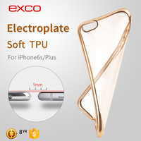 EXCO New Arrival soft flexible transparet TPU case for iPhone 6s / iPhone 6s plus