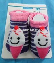 baby sock of ice cream decoration