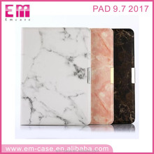 Hot selling marble pu leather wallet mobile phone case for ipad 9.7'' 2017